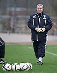Ally McCoist at Rangers training on deadline day
