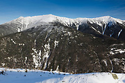 Franconia Notch State Park - Franconia Ridge from along Kinsman Ridge Trail in the White Mountains, New Hampshire. This trail leads to the summit of Cannon Mountain.
