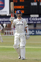 Essex skipper James Foster celebrates scoring a century, 100 runs - Leicestershire CCC vs Essex CCC - LV County Championship Division Two Cricket at Grace Road, Leicester - 11/07/11 - MANDATORY CREDIT: Gavin Ellis/TGSPHOTO - Self billing applies where appropriate - Tel: 0845 094 6026