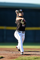 Erie SeaWolves pitcher Kyle Ryan (23) delivers a warmup pitch during a game against the Akron RubberDucks on May 17, 2014 at Jerry Uht Park in Erie, Pennsylvania.  Erie defeated Akron 2-1.  (Mike Janes/Four Seam Images)
