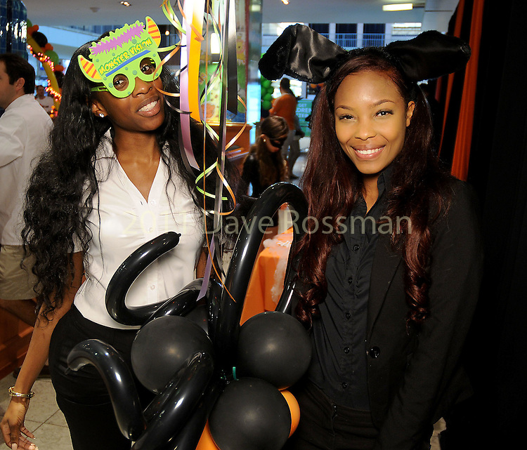 Elizabeth Onukwu and Roshelle Taylor at the Little Galleria Halloween Spooktacular presented by MD Anderson Children's Cancer Hospital at The Galleria Sunday Oct. 30,2016.(Dave Rossman photo)