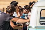 "Spanish actors Silvia Alonso, Salva Reina, Megan Montanier, David Guapo, Eduardo Casanova and Bore Buika during the filming of the movie "" Senor, dame paciencia"" directed by Alvaro Diaz. September 06, 2016. (ALTERPHOTOS/Rodrigo Jimenez)"