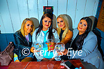 Ciara Fitzgerald, Lisa Heaphy and Gerry O'Callaghan with Nicole Heaphy (Tralee)  having a drink in Teach Beag on Monday