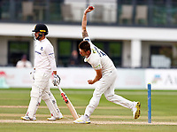Harry Podmore bowls for Kent during Kent CCC vs Sussex CCC, LV Insurance County Championship Group 3 Cricket at The Spitfire Ground on 13th July 2021