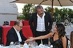 CARLO VERDONE CON CLAUDIO AMENDOLA E SABRINA FERRILLI<br /> PREMIO CIAK D'ORO 2014 - TERRAZZA DEL VITTORIANO ROMA 2014