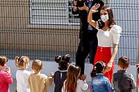 TOTANA, SPAIN-April 30: **NO SPAIN** Queen Letizia attends 6th Educational Congress on Rare Diseases at Guadalentin school in Totana, Murcia, Spain on April 30, 2021. <br /> CAP/MPI/RJO<br /> ©RJO/MPI/Capital Pictures