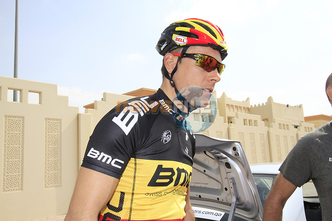 Belgian Champion Philippe Gilbert BMC Racing Team at the start of Stage 1 of the Tour of Qatar 2012 running 142.5km from Barzan Towers to Doha Golf Club, Doha, Qatar. 5th February 2012.<br /> (Photo by Eoin Clarke/NEWSFILE).