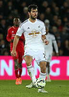 SWANSEA, WALES - MARCH 16: Jordi Amat of Swansea<br /> Re: Premier League match between Swansea City and Liverpool at the Liberty Stadium on March 16, 2015 in Swansea, Wales