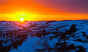 04/02/15<br /> <br /> With no end in sight for the freezing conditions gripping the country,  a walker stops  to marvel at an awe-inspiring sunset over The Roaches in the Staffordshire Peak District near Leek.<br /> <br /> All Rights Reserved - F Stop Press.  www.fstoppress.com. Tel: +44 (0)1335 418629 +44(0)7765 242650