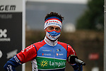 Niki Terpstra (NED) Total Direct Energie at sign on before the start of the 82nd edition of Gent-Wevelgem 2020 running 232km from Ypres to Wevelgem, Belgium. 11th October 2020.  <br /> Picture: Colin Flockton   Cyclefile<br /> <br /> All photos usage must carry mandatory copyright credit (© Cyclefile   Colin Flockton)
