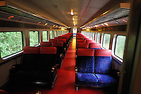 The Alaska Railroad's Hurricane Turn is one of America's last true whistlestop trains. On this rainy day there were plenty of empty seats.