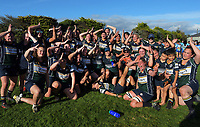 Southern celebrate winning the 2021 Taranaki Women's Rugby premier final between Clifton and Southern at Clifton RFC in Tikorangi, New Zealand on Saturday, 12 June 2020. Photo: Dave Lintott / lintottphoto.co.nz