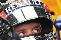 Redbull Renault German driver Sebastian Vettel .24/03/2012 Grand Prix Malesia, Sepang , Essais..Foto Insidefoto  /Bernard Asset / Panoramic.ITALY ONLY..