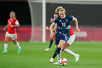 21st July 2021; Sapporo, Japan; Lauren Hemp 15 GBR controls the ball  during the womens Olympic Football Tournament Tokyo 2020 match between Great Britain and Chile at Sapporo Dome in Sapporo, Japan. Great Britain won the game by a score of 2-0