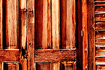 Bannack, Montana is a ghost town preserved as a Montana State Park.  Camping is peaceful, the town historic.  A remnant of Montana's gold mining history the park is west of Dillon, Montana a few miles off State Highway 278.  Photo of Church Door, Methodist Church.