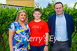 Kyle Yoxall from Holy Family NS receiving his Confirmation in St Brendan's Church on Tuesday, l to r; Sinead Kerins, Kyle Yoxall and Peter Kerins.