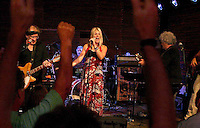 Jefferson Starship performs  two shows at the Acorn Theater, Three Oaks, MI, Thursday, July 30, 2009. They are beginning a 40th Anniversary of Woodstock tour. The band includes l to rt  Paul Kantner, Cathy Richardson, David Freiberg, and Jeff Pevar.
