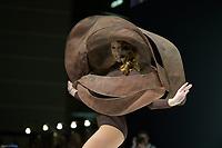Silvia Notargiacomo portant la robe de Laurence Bossion et Patrick Chapon au Salon du Chocolat coiffure Franck Provost maquillage Make Up For Ever Paris 2017 - SALON DU CHOCOLAT 2017, 27/10/2017, PARIS, FRANCE
