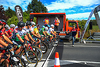 The field prepares to start stage five of the NZ Cycle Classic UCI Oceania Tour in Masterton, New Zealand on Tuesday, 26 January 2017. Photo: Dave Lintott / lintottphoto.co.nz