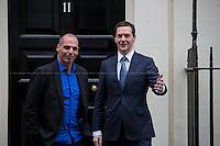 02.02.2015 - Yanis Varoufakis, Greece's Finance Minister Visits 11 Downing Street