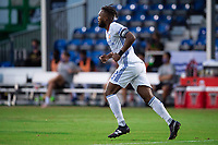 LAKE BUENA VISTA, FL - JULY 22: Kendall Waston #2 of FC Cincinnati runs to the ball during a game between New York Red Bulls and FC Cincinnati at Wide World of Sports on July 22, 2020 in Lake Buena Vista, Florida.