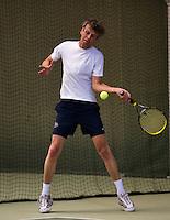 Hilversum, The Netherlands, 05.03.2014. NOVK ,National Indoor Veterans Championships of 2014, Just Palm (NED)<br /> Photo:Tennisimages/Henk Koster