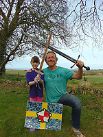 Pictured: Elly Neville with actor Jerome Flynn<br /> Re: Seven-year-old Elly Neville who was born despite doctors saying her parents would not be able to have any more children, has raised over £150,000 for the cancer ward that treated her father.<br /> Her parents Lyn and Ann had been told they were unlikely to have more children after he underwent a bone marrow transplant in 2005. <br /> Mr Neville subsequently spent a lot of time on the Ward 10 cancer facility at Withybush Hospital in Haverfordwest, Pembrokeshire.<br /> But four years later they were stunned when his painter and decorator wife Ann fell pregnant again.