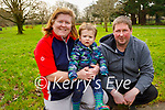 Linda, Jack and Brendan Daly enjoying a stroll in the Tralee town park on Saturday.