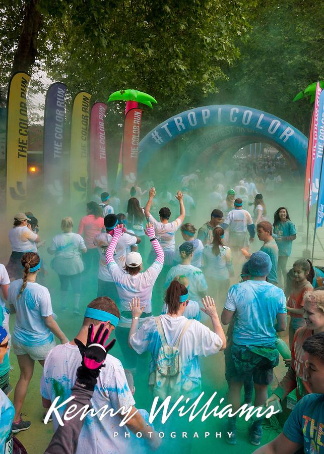 The Color Run 2016, Seattle Center, WA, USA.