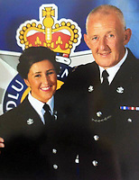 2020 08 04 Jemma Dicks and a former sergeant, Cardiff, Wales, UK