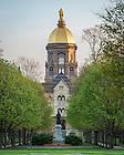 Apr. 24, 2016; Main Building in Spring (Photo by Matt Cashore/University of Notre Dame)