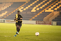 Mo Touray, Marine AFC converts the first penalty for Marine in the shoot out during Colchester United vs Marine, Emirates FA Cup Football at the JobServe Community Stadium on 7th November 2020