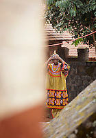In the grounds of the Fons Palace, Bafut, Cameroon