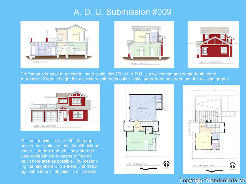 Chris Montney, NewSchool of Architecture & Design, received Honorable Mention in FSDA's ADU Competition 2004 in the Student category.
