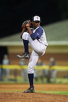 Brooklyn Cyclones relief pitcher Justin Dunn (19) delivers a pitch during a game against the Batavia Muckdogs on July 4, 2016 at Dwyer Stadium in Batavia, New York.  Brooklyn defeated Batavia 5-1.  (Mike Janes/Four Seam Images)
