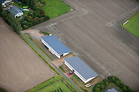 DEUTSCHLAND, Luftaufnahmen von Solardaechern auf Stallgebaeuden in Schleswig-Holstein | GERMANY aerial view of photovoltaic on farm buildings in Northern Germany