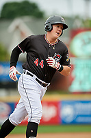 Erie SeaWolves first baseman Josh Lester (44) rounds the bases after hitting a home run in the bottom of the second inning during a game against the New Hampshire Fisher Cats on June 20, 2018 at UPMC Park in Erie, Pennsylvania.  New Hampshire defeated Erie 10-9.  (Mike Janes/Four Seam Images)