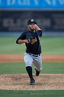 West Virginia Black Bears pitcher Denny Roman (29) during a NY-Penn League game against the Batavia Muckdogs on June 25, 2019 at Dwyer Stadium in Batavia, New York.  Batavia defeated West Virginia 7-3.  (Mike Janes/Four Seam Images)