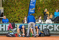Netherlands, September 27,  2020, Beneden-Leeuwen, TV Lewabo, Competition, Men's premier league, TV Lewabo vs TV Suthwalda, Doubles: Kilian (NED)  and Dallinga (NED)  <br /> Photo: Henk Koster/tennisimages.com
