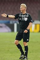 Arbitro Bernie Rajmond Blom Nederland referee<br />  Napoli 18-09-2014 Stadio San Paolo <br /> Football Calcio UEFA Europa League Group I. Napoli - Sparta Praga.<br /> Foto Cesare Purini / Insidefoto
