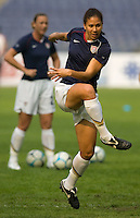 Shannon Boxx of the USA. The United States defeated China 1-0 during the finals of the Four Nations Tournament in Guangzhou, China on January 20, 2008.