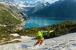 Great scenery at Lake Emosson, Pointe de la Terrasse, Switzerland, 24 June 2020.