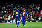Luis Alberto Suarez Diaz (L) of FC Barcelona and Lionel Andres Messi (R) of FC Barcelona walk on the pitch during the La Liga match between FC Barcelona vs RCD Espanyol at the Camp Nou on 09 September 2017 in Barcelona, Spain. Photo by Vicens Gimenez / Power Sport Images