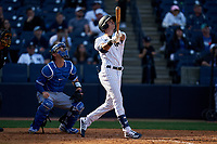 New York Yankees Ben Ruta (97) bats during a Spring Training game against the Toronto Blue Jays on February 22, 2020 at the George M. Steinbrenner Field in Tampa, Florida.  (Mike Janes/Four Seam Images)