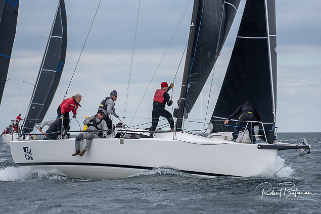 Mike and Richard Evans on the new J99 Snapshot have a ten-point lead in the IRC One Division going into the final day of the Sovereign's Cup Regatta