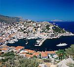 Greece, Attica, Saronic Islands, Island Hydra: Hydra Town and harbour | Griechenland, Attika, Saronischen Inseln, Insel Hydra: Die Stadt Hydra mit Hafen