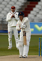 15th April 2021; Emirates Old Trafford, Manchester, Lancashire, England; English County Cricket, Lancashire versus Northants; Rob Jones of Lancashire at bat