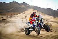 31st December 2020, Jeddah, Saudi Arabian. The vehicle and river shakedown for the 2021 Dakar Rally in Jeddah;   163 Copetti Pablo usa, Yamaha, MX Devesa By Berta, Motul, Quad, action during the shakedown of the Dakar 2021 in Jeddah