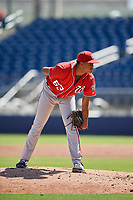 Washington Nationals pitcher Felix Taveras (63) during an Instructional League game against the Miami Marlins on September 26, 2019 at FITTEAM Ballpark of The Palm Beaches in Palm Beach, Florida.  (Mike Janes/Four Seam Images)