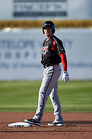 Lake Elsinore Storm center fielder Jack Suwinski (14) during a California League game against the Lancaster JetHawks on April 10, 2019 at The Hanger in Lancaster, California. Lake Elsinore defeated Lancaster 10-0 in the first game of a doubleheader. (Zachary Lucy/Four Seam Images)